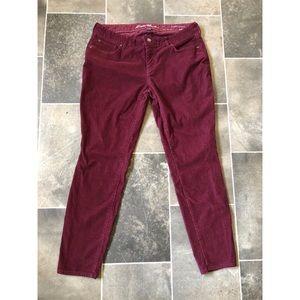 Eddie Bauer Maroon Curvy Skinny Jeans Size 14